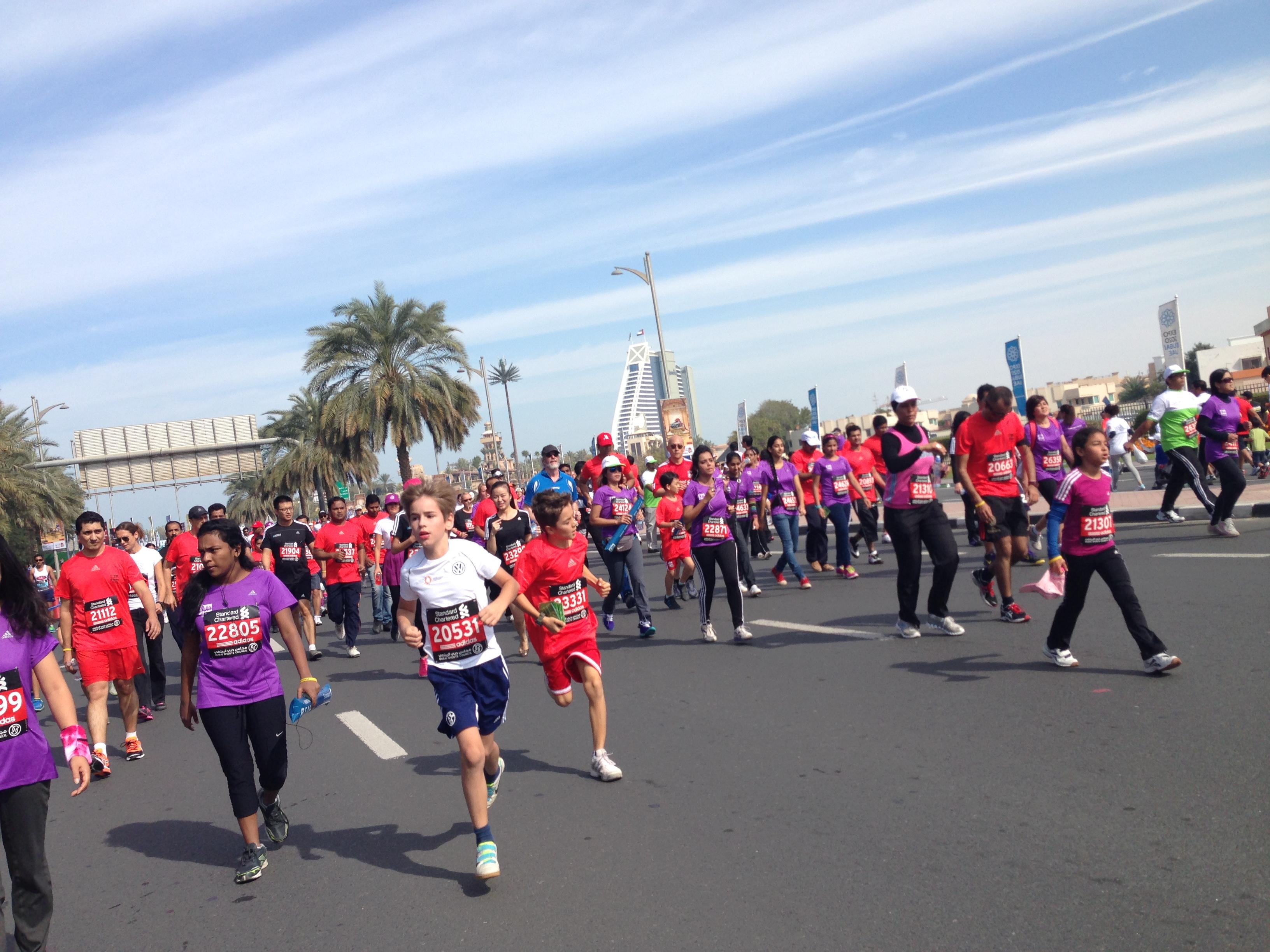 dubai marathon run