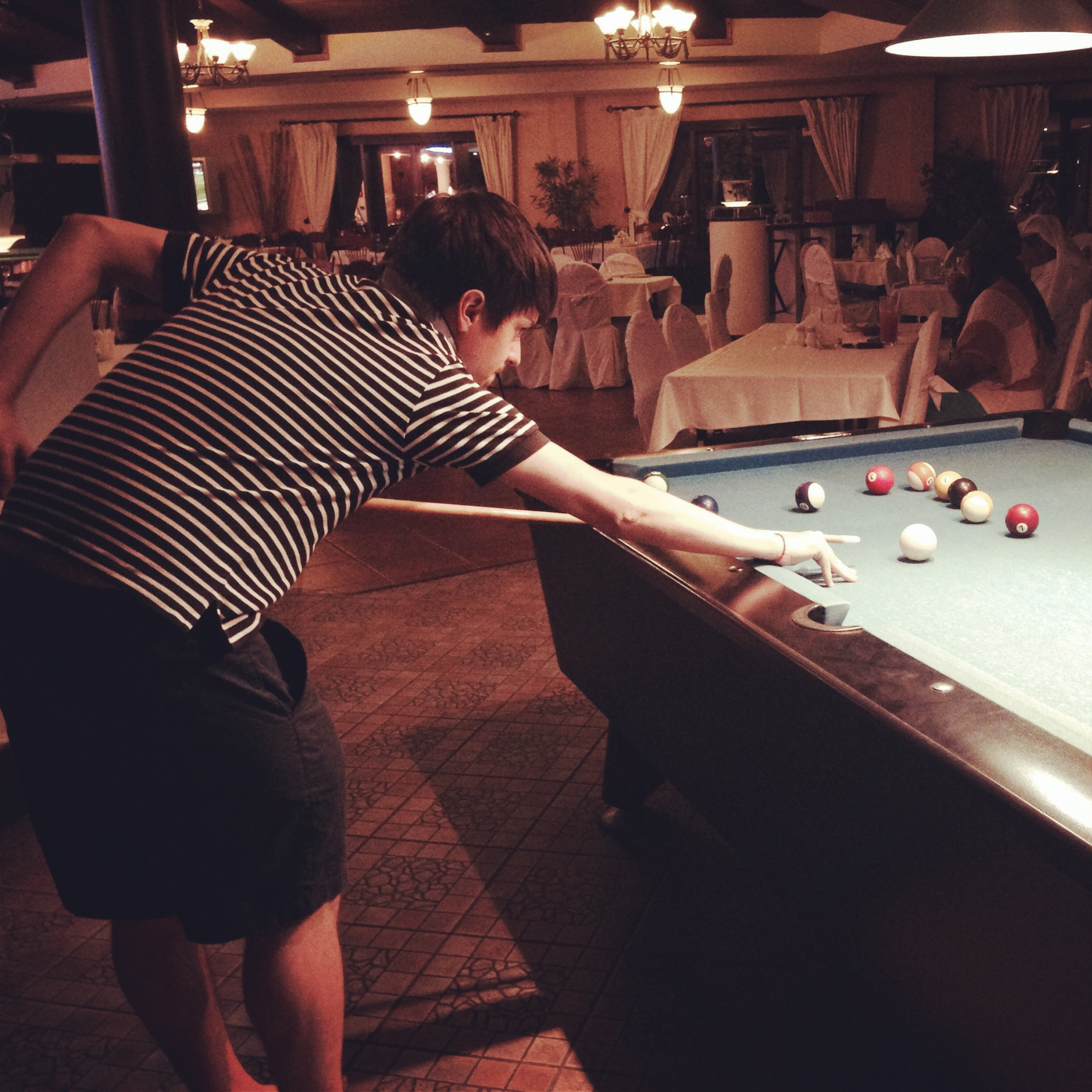 Play pool at Aquarius
