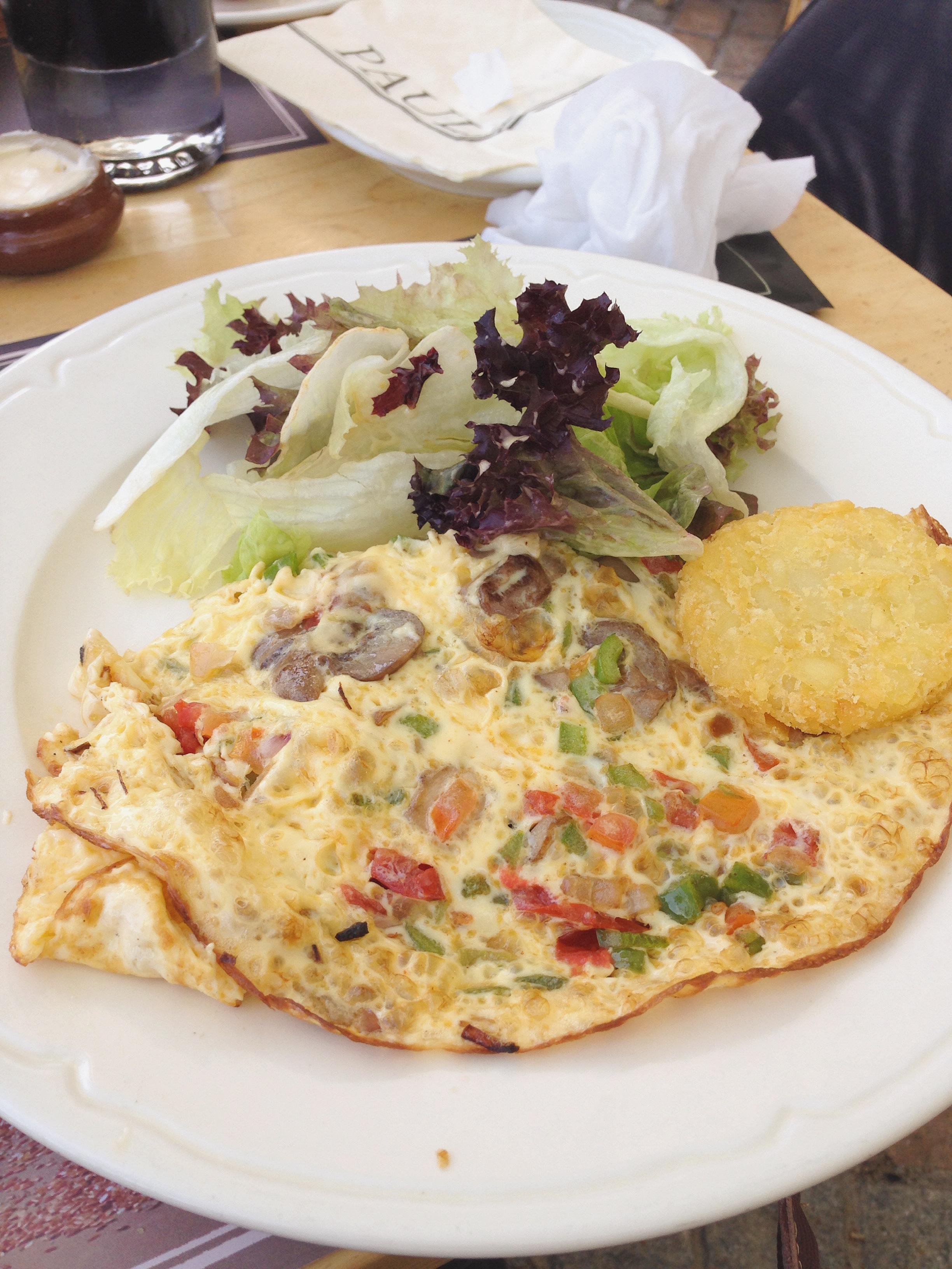 omelette breakfast in JBR Paul