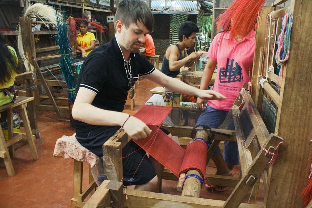 handloom weaving Puerto Princesa