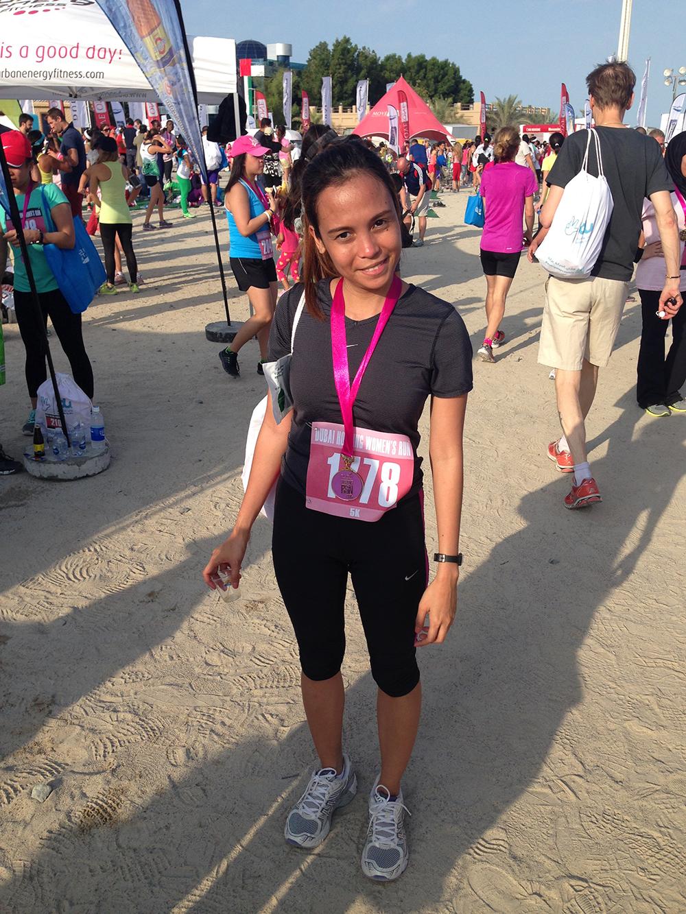 finished 5k run dubai womens run