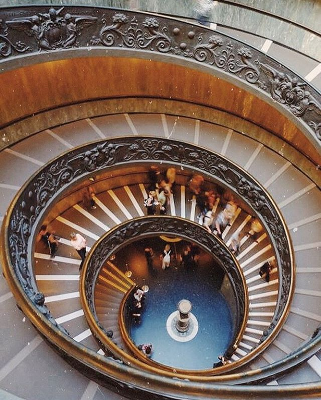 The modern Bramante spiral staircase at the Vatican Museum Onehellip