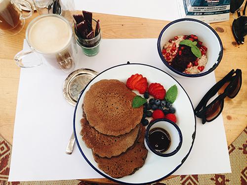 Buckwheat pancake fresh fruits